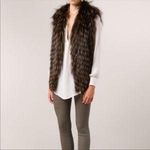 Haute Hippie Fox Fur Vest